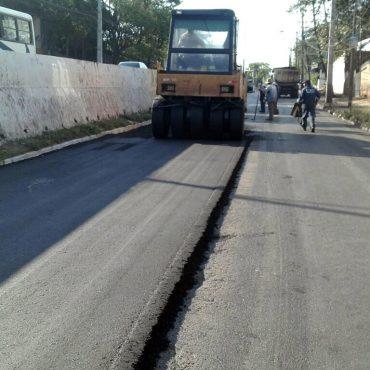 Avanzan positivamente los trabajos viales en la avenida José Félix Bogado