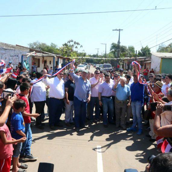 Histórica inauguración de obras en Bañado Sur