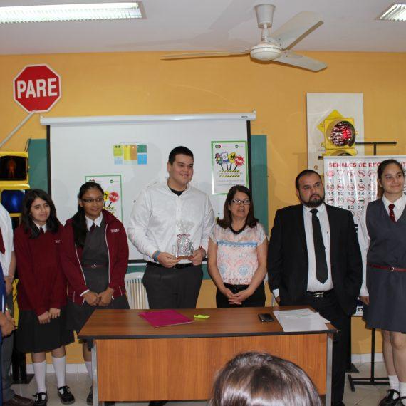 Presentaron los tres colegios ganadores de la campaña vial