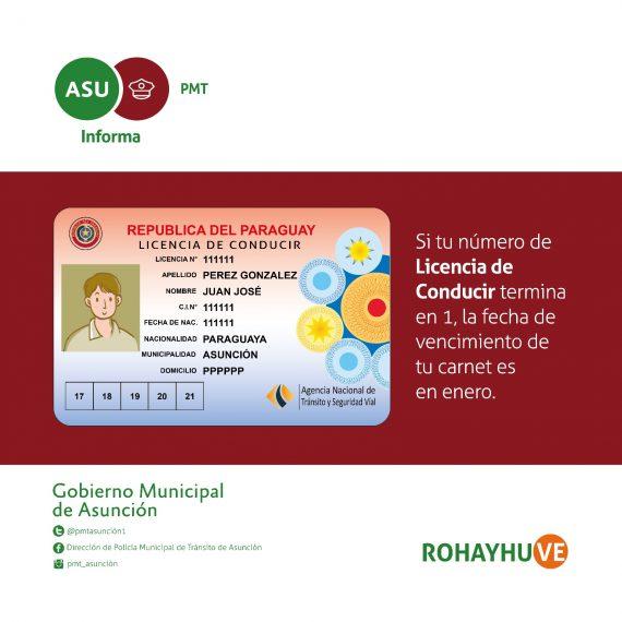 Vecimientos de licencias de conducir no se han modificado