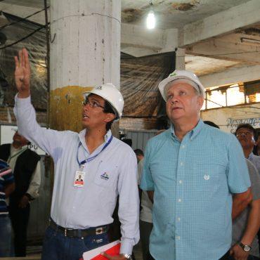 Intendente corroboró reinicio de obras en el Mercado 4