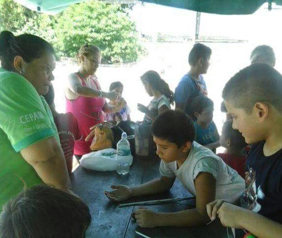 Talleres de reciclado de residuos se brindan en colonia de vacaciones del Centro Onondivepa