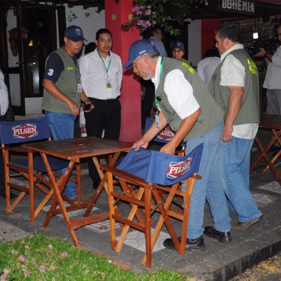 Comuna intervino locales nocturnos por ocupación indebida de veredas y calzadas