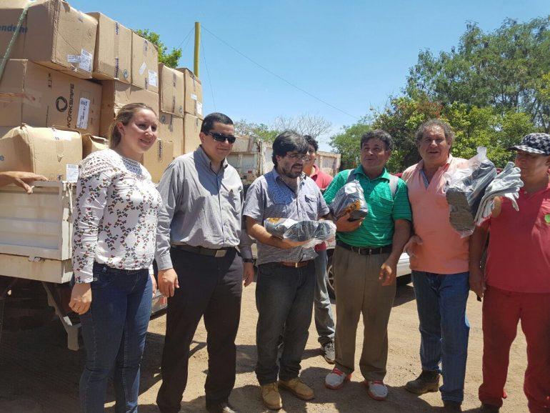 Obreros de Planta Asfáltica recibieron indumentaria adecuada para un mejor cumplimiento de sus tareas