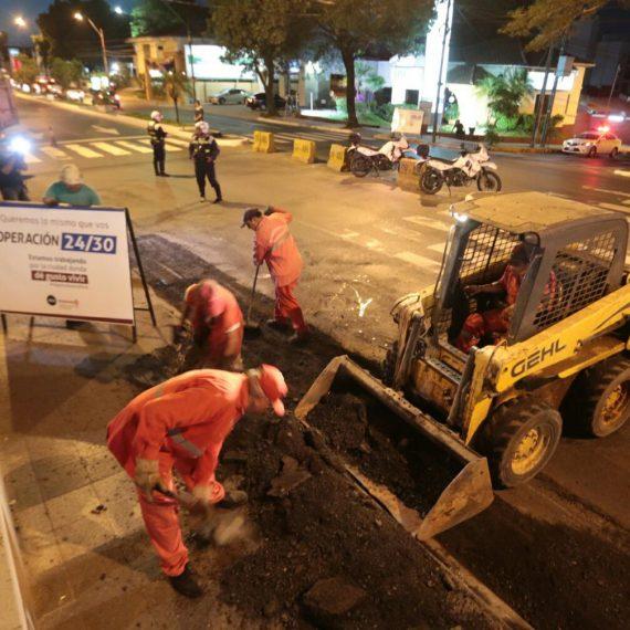 En marcha nuevo Operativo 24/30 para intensificar reparaciones viales en importantes arterias capitalinas