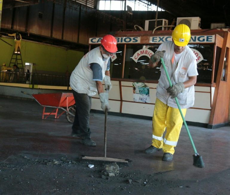 Inician labores de restauración de la Terminal de Ómnibus de Asunción