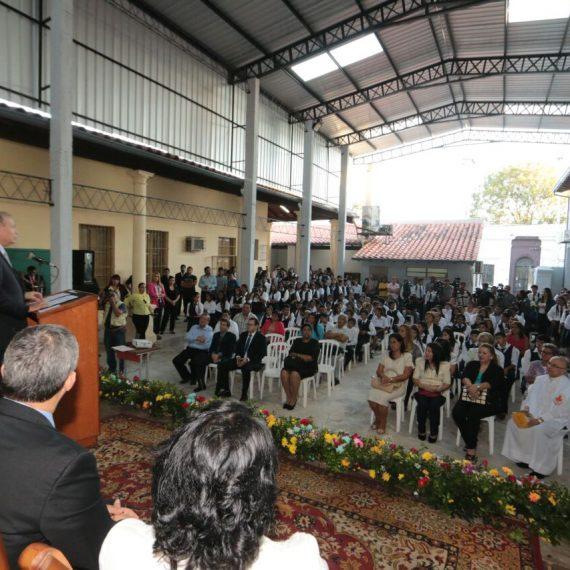 Inauguraron mejoras en Colegio Vicepresidente Sánchez con recursos del FONACIDE