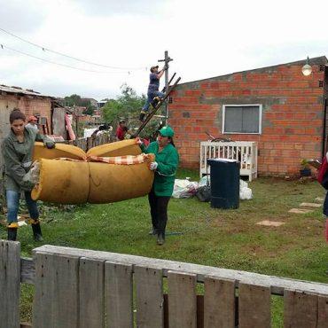 Continua plan de reubicación de familias ante crecida del río Paraguay