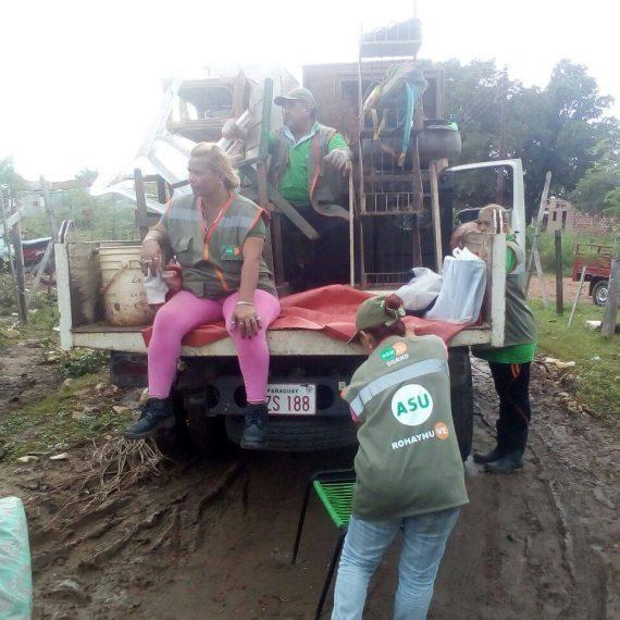 Río Paraguay sube 5cm y aumenta la asistencia de la Municipalidad a familias afectadas