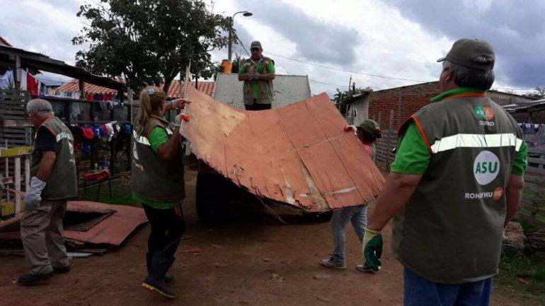 Crece el número de familias afectadas por la crecida del río Paraguay