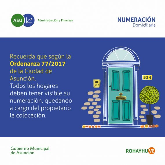 Propietarios deben exhibir en un lugar visible la numeración de sus inmuebles ubicados en Asunción