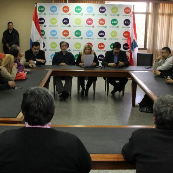 Pleno acuerdo entre sindicatos de trabajadores y la Administración Municipal sobre tope de descuentos de salarios