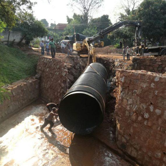 Ya bajan las tuberías para la segunda etapa del desagüe pluvial de General Santos