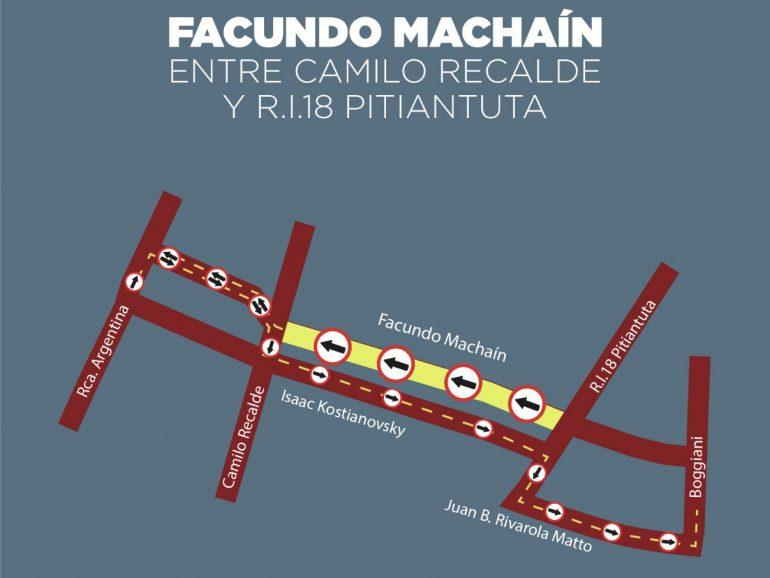 Un tramo de Facundo Machaín e Isaac Kostianovsky serán de sentido único a partir de mañana