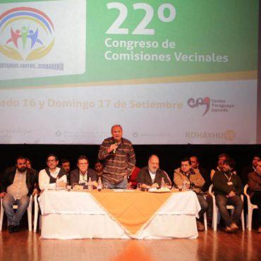 Culminó con éxito el 22º congreso de Comisiones Vecinales de Asunción