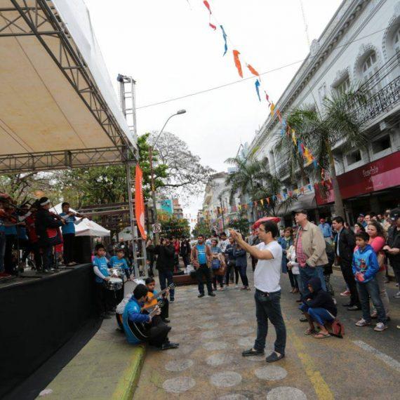 Jóvenes vibraron con la Palmeada Musical celebrando la primavera y juventud