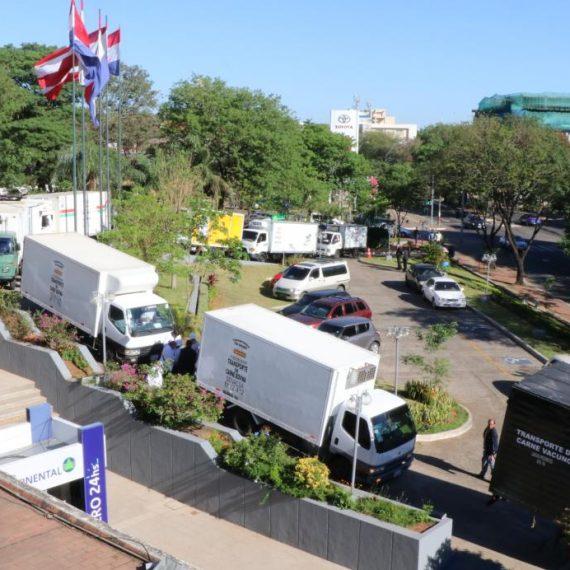 14 nuevos camiones frigoríficos fueron  inspeccionados por la Municipalidad de Asunción