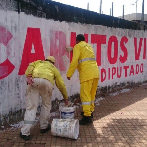 Municipalidad y Fiscalía Electoral actúan ante publicidad extemporánea de candidatos