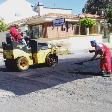 Bacheo día a día: Reparaciones viales se realizaron solamente en el Turno Mañana por inclemencias del tiempo