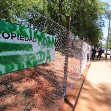Municipalidad Instala Cercado Temporal En Terreno De Dominio Privado Municipal En El Barrio Trinidad Para Trabajos De Reforestación