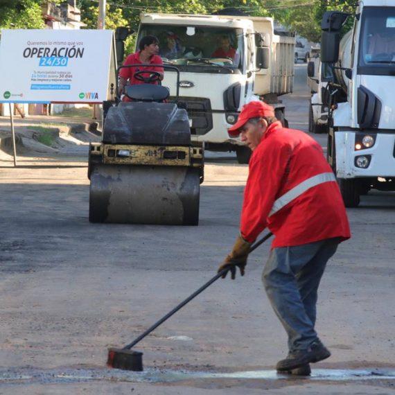 Operación 24/30: Intensifican trabajos del Eje de Mejoramiento Vial en calles y avenidas capitalinas