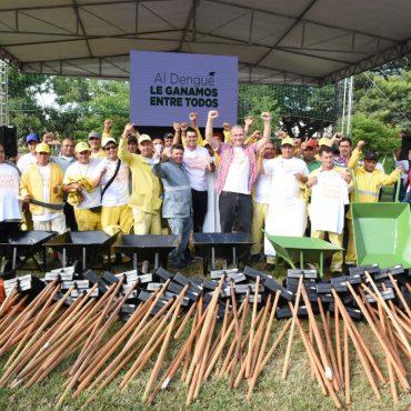 Campaña municipal de concienciación y limpieza para la lucha contra el dengue comenzó este viernes 9 de marzo