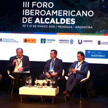 """Coordinación metropolitana entre sector público multinivel es el tema abordado por el Intendente Ferreiro, en el marco del """"III Foro Iberoamericano de Alcaldes"""""""