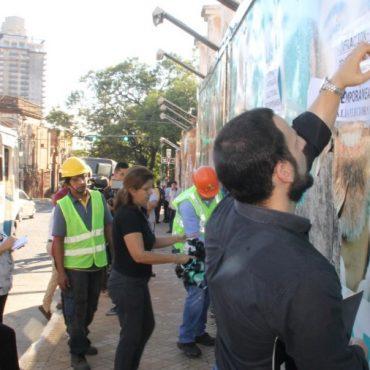 Inició retiro de propaganda electoral de la vía pública en Asunción