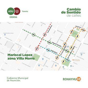 Varias calles de Villa Morra cambiarán a sentido único de circulación desde el 25 de abril